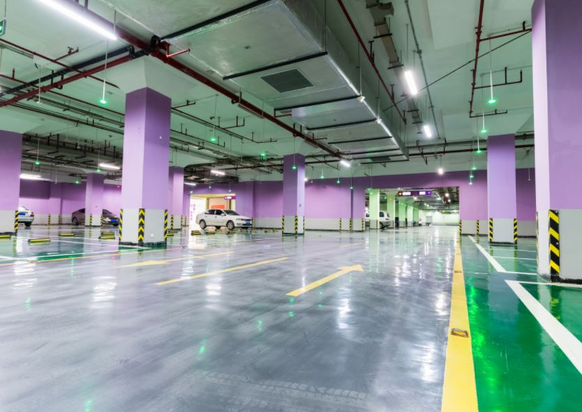 Willmington VA industrial-interior-power-washing-parking-garage-cleaning-williamsburg