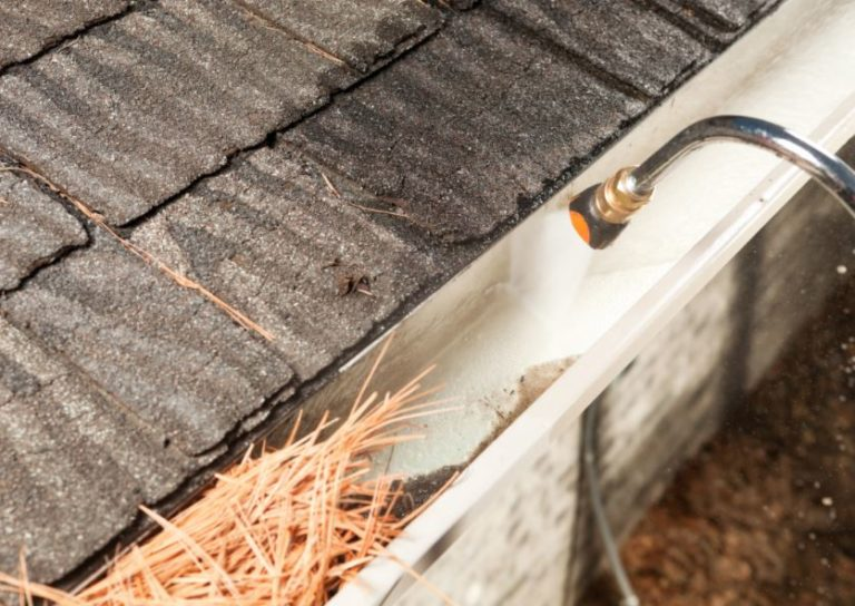 clogged-gutter-cleaning Williamsburg Virginia